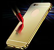 novo luxo metal banhado alumínio quadro + espelho acrílico volta cobrir caso escudo para iphone6 4.7inch