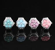 Sweet Plum Clamshell Shape Quartz Multicolor  Ring Finger Watch(Blue,Pink)(1Pc)