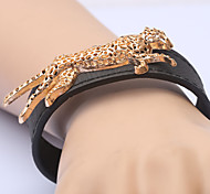 European Fashion Leopard  Leather Bracelets Party/Daily/Casual 1pc