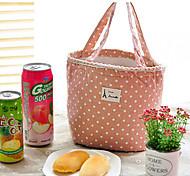 polka dot tela sacchetto termico isolato lunch box tote cooler borsa pic-nic (colore casuale)