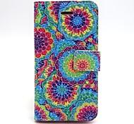 colorido patrón de impresión pu funda de cuero del teléfono para el iphone 5 / 5s