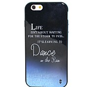 2-in-1 Dance in the Rain Pattern TPU Back Cover with PC Bumper Shockproof Soft Case for iPhone 6