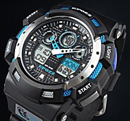 Men's Watch Multifunctional Water Resistant Dual Time Digital Military Design for Sprots(Assorted Colors)