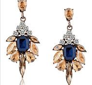 Pendientes colgantes Cristal Gema La imitación de diamante Legierung Moda Gota Pantalla de color Joyas 2 piezas