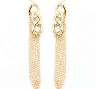 Drop Earrings Gold Plated Alloy Fashion Gold Jewelry 1set