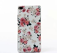 Beautiful Flowers Pattern TPU Soft Case for Huawei P8