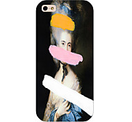 Oil Painting Girl Pattern Phone Back Case Cover for iPhone5C