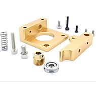 MK8 Extruder Aluminum Block Makerbot Extrusion Head Aluminum Block for 3D Printer
