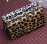 Leopard Print Pattern Horizontal Flip Leather Case with Card Slots and Holder for iPhone5C