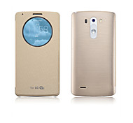 LG G3 PU Leather Full Body Cases / Cases with Stand Solid Color / Special Design case cover