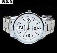 la montre à quartz mode sport analogique acier poignet de ceinture des hommes (couleurs assorties)