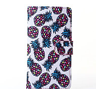 Pineapple Pattern PU Leather Full Body Case with Stand for Multiple Sony Xperia Z3/T3