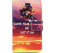 motif de ballon cuir PU cas de tout le corps avec fente pour carte et Stand pour iPhone 4 / 4g