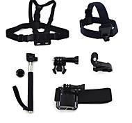 ourspop gp-k27 kit pour GoPro Hero 4 3 + / 3/2/1 caméra 6-en-1 accessoires
