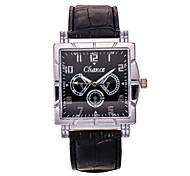 Masculino Relógio de Moda Quartz Relógio Casual PU Banda Relógio de Pulso Preta