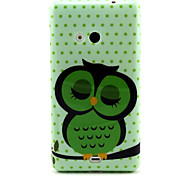 Sleeping Owl  Pattern TPU Soft Case for Nokia N535