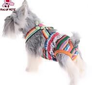 Коты / Собаки Брюки Розовый Одежда для собак Лето Полоски Свадьба / Косплей