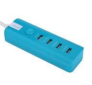 Whirldy Portable charger 4USB High Speed Charging Perfect for Iphone, Ipad, Samsung, Nexus, HTC, Sony Safe and efficient