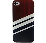 Stripe Pattern TPU Material Soft Phone Case for iPhone 4/4S