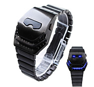 Hot Luxury Fashion Snake head Design LED Binary Creative Wrist Watch Men Casual Wrist Watches