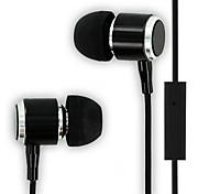 alta calidad 3.5mm auricular estéreo en los auriculares de oído con micrófono para iPhone 6 huawei lg sony mp3 mp4