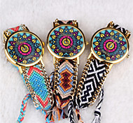 Bohemian Style Women'S Vintage Watches Sun Pattern Hand-Woven Watches Students Watch