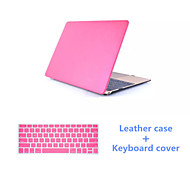 "High Quality Slim PU Leather Full Body Case with Keyboard Cover for Macbook Retina 12 "" (Assorted Colors)"