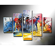 Hand-Painted Music  Oil Painting on Canvas  5pcs/set Without Frame