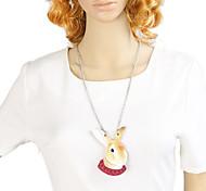 New Fashion Long Viviv Rabbit Head Pendant Animal Necklace