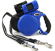 High Quality Brand Blue/Black Retractable Dog Leashes Lead with Garbage Bag Dispenser for Dogs and Pets