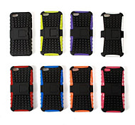 2-in-1 Design Hard Case with Silicone Inside with Stand Cover for iPhone5C (Assorted Color)