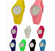 Children's Coloured Silicone Band Analog Wrist Watch Cool Watches Unique Watches Fashion Watch