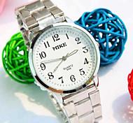 Men's Simple Business Round Dial PC Movement Steel Strap Fashion Life Waterproof Quartz Watch Wrist Watch Cool Watch Unique Watch