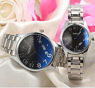 Couple's Dress Watch Japanese Quartz Calendar  Stainless Steel Wrist Watch