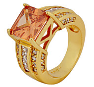 Size 6/7/8/9/10 High Quality Women Orange Sapphire Rings 10KT Yellow Gold Filled Ring