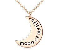 European Style Fashion Simple Moon Pendant Necklace