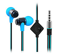 High Quality Flat Cable Music Earphones Headphone with Microphone for iPhone Samsung Sony