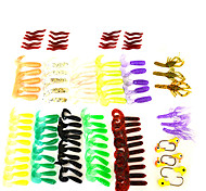 Set of 107  Fishing Soft Bait  Lure Set