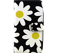 Fashion Design COCO FUN® Yellow Daisy Pattern PU Leather Wallet Case Cover for Wiko Bloom