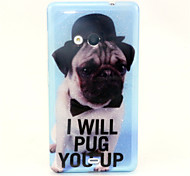 Puppy Pattern Glitter TPU Cell Phone Soft Shell For Nokia Lumia N535 / Microsoft Lumia 535