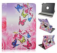 de vlinder patroon 360 graden roating full body case met standaard voor Samsung Galaxy Tab een 9,7 T550 / 8 T350