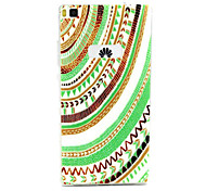 Tribal Circle Pattern TPU Soft Cover Case for Huawei P8