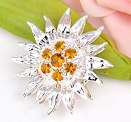 Moda rotonda avanti brasile citrino gioiello in argento 925 girasoli pendenti per collane per la festa nuziale 1pc quotidiano