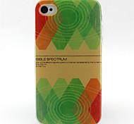 vert plaid TPU de téléphone pour iPhone 4 / 4S