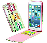 The Owl Model  Pu Leather And The Card Slot Cell Phone Holster For iPhone 6