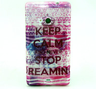 Never Stop Pattern Glitter TPU Cell Phone Soft Shell For Nokia Lumia N535 / Microsoft Lumia 535