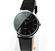 Men's Water New Super Thin Needle Two Gold Shell Leather Strap Watch(Assorted Colors)