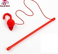 Cat Pet Toys Teaser / Feather Toy Mouse Red Textile