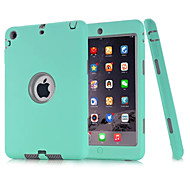3 in 1 Combo Wave Pattern PC & Silicone Case with Stand for iPad Air