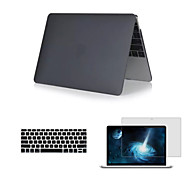 "Matte 3 in 1 Full Body Case with Keyboard Cover and HD Screen Protector for New Macbook Retina 12"" (Assorted Colors)"